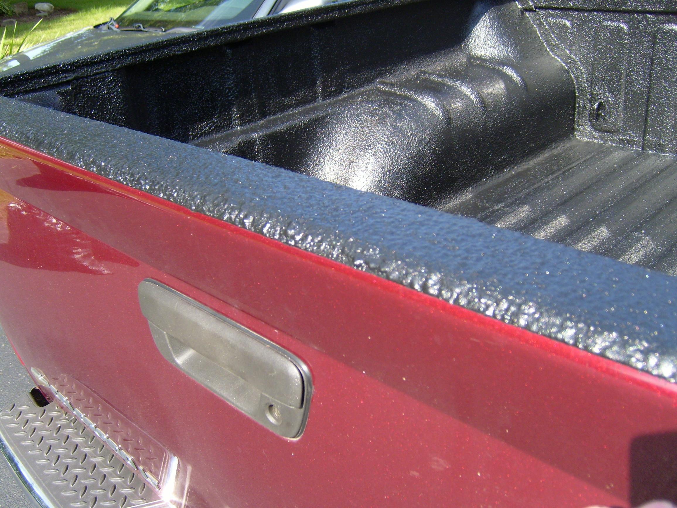 bed liner spray cans. rhino lining my interior truck floor
