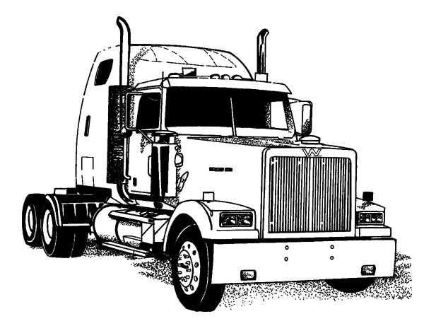 as well Semi truck silhouette clip art also Multiple Tractor Trailers together with Reefer Trucks With Sleeper moreover Kenworth Semi Coloring Pages Sketch Templates. on semi trailer dump truck outline