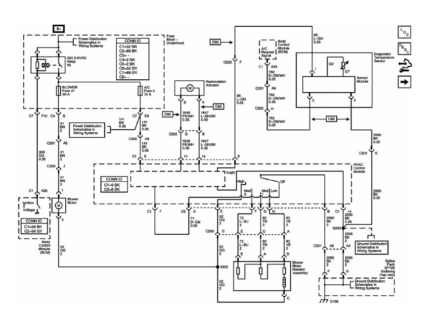 2005 Chevy Colorado Blower Motor Wiring Diagram  U2013 Database
