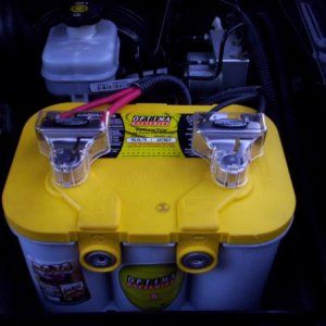 Optima yellow-top with Tsunami battery terminals