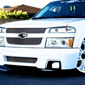 ss front bumper, color matched halos with LED strip on the bottom