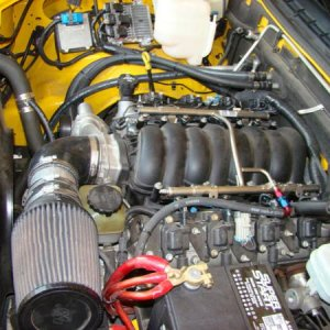 LS2 shoehorned in