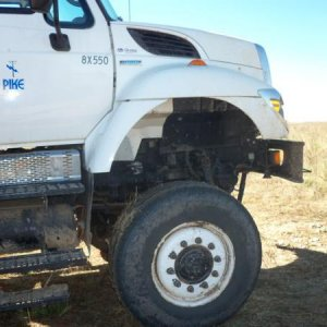 company truck, serious wheel gap