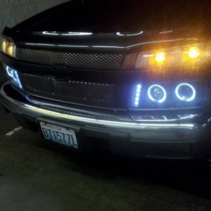new black chrome grille and GM black metallic center trim + bowtie